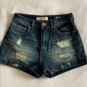 Pacsun high waisted jean shorts